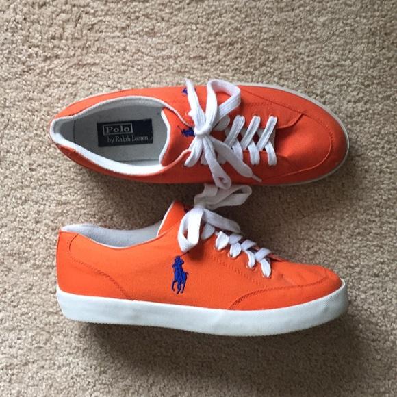 Blue Ralph Sneakers Polo Lauren Orange And 5j34RALq